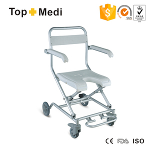 Good Quality Folding Shower Chair with Wheels for disabled or older/Silla para ducha con ruedas