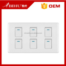 China goods hot selling six gang two way wall switch