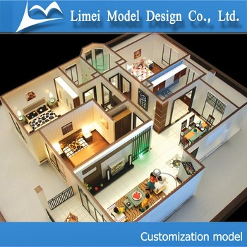 Beautiful 3d building model making residential home model for 3d house maker online