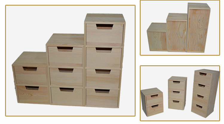 Caixa de Armazenamento De Gaveta Mobília Das Crianças de madeira De Madeira Da Gaveta
