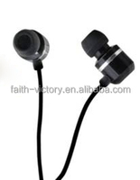 Metallic Earphone with In Line Mic, Flat Cable