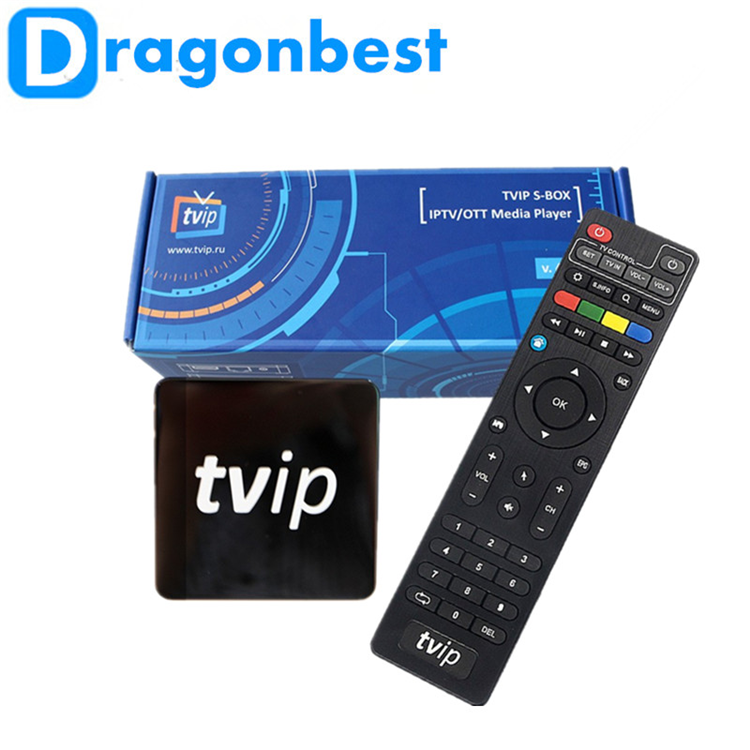 2017 Best IPTV android TV Box Tvip android + Linux System Original Tvip V410 Set Top Box media player IPTV supports OEM