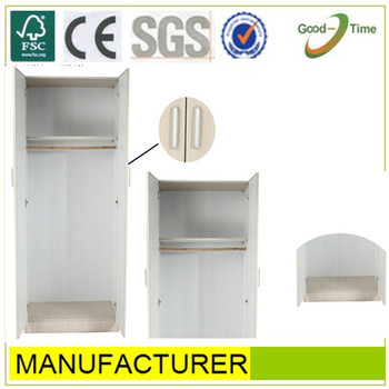 Cabinet Design For Clothes For Kids white wooden grain color melamined mdf simple cheap 2 doors modern