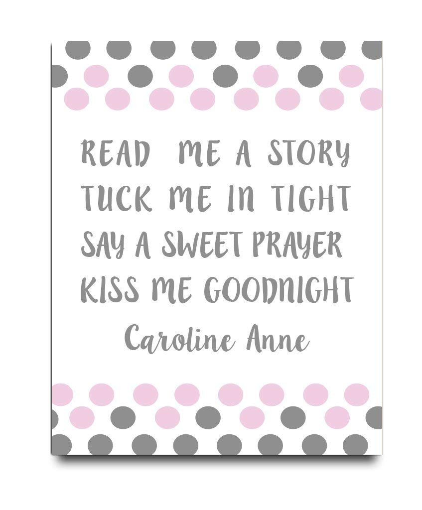 Read Me a Story Tuck Me in Tight | Girl Nursery Art | Nursery Decor | Girls Room Sign | Personalized Nursery Decor | Baby Girl Wall Art | Girls Wall Decor | Girls Wall Art