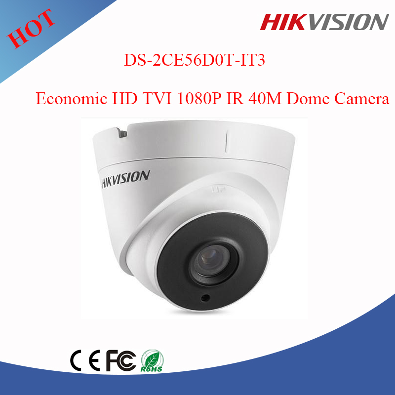 full HD 1080P IR Camera upto 40m Hikvision English firmware cctv camera