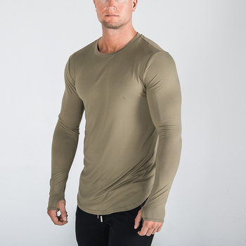 Wholesale Athletic Bamboo Clothing Men Basic T Shirts Long Sleeve Men's T Shirt