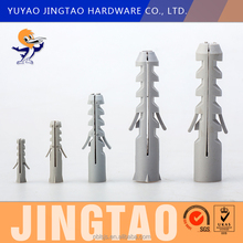 Oem Factory Cheap Price PE Nylon Plastic Wall Expansion Anchor Plastic Hole Plug With Wings M12x60
