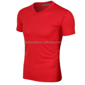 2018 men sports t-shirt V-neck fashion top running t-shirt male custom logo breathable shirt 4XL customized wholesale