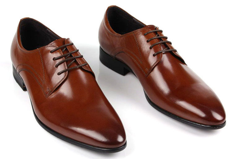 9ec154ccc65086 Get Quotations · Free shipping 2014 Men oxfords Lace-up Top genuine leather  Black/brown Luxury Brands