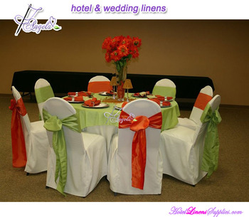 cheap banquet chair covers with satin sash for sale in wedding decorations
