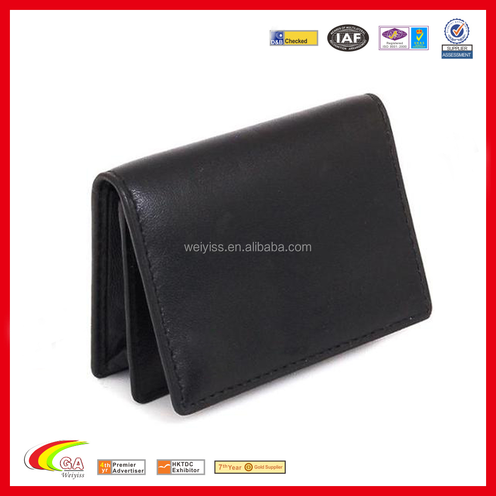 Hot Pu Leather Case Bulk Business Card Holder Case Embossed Logo ...
