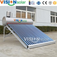 Domestic using stainless steel unpressurized solar water heater is economic