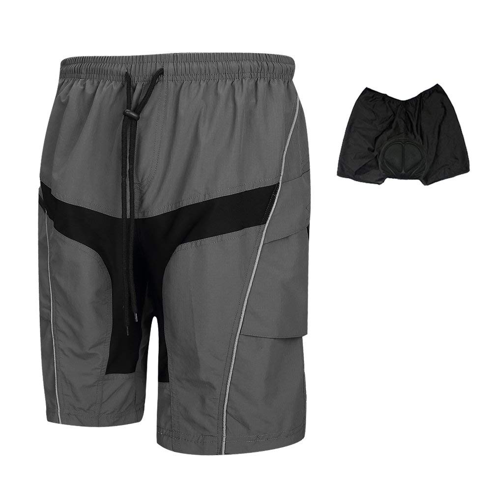 Get Quotations · SANTIC Mens Cycling Shorts Loose-fit Baggy Mountain Bike  Bicycle Short M-4XL 3f94ac82d