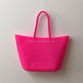Rubber Tote Bag Traveling Silicone Beach Shoulder Lady Handbags