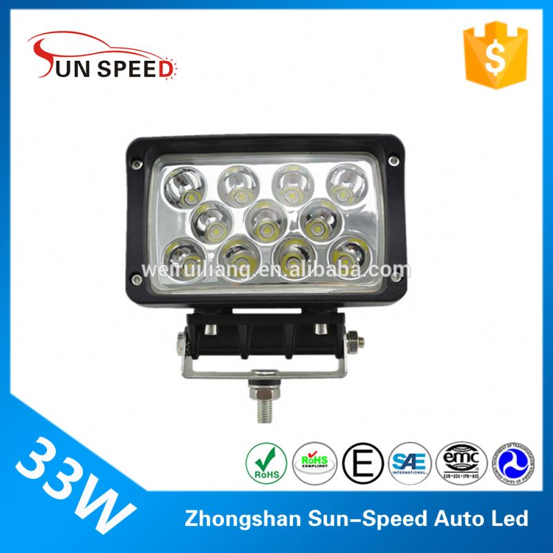 Sun-Speed aldi led work light 33w tractor spotlight driving lamp square led accessories off road 4*4 WD