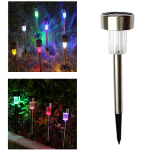 EiTai Colorful Solar LED Path Light Outdoor Garden Lawn Landscape Stainless Steel Spot Lamp