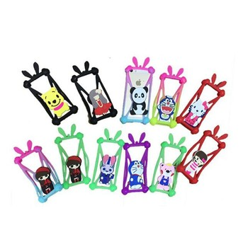 Factory price New Arrival Elastic Cute Cell Phone Universal 3D Silicone Phone Case