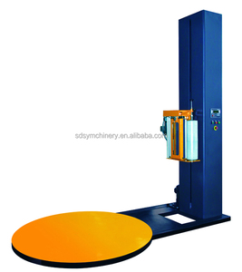 Full-Automatic Pallet Stretch Film Wrapping Machine Top Film Dispenser