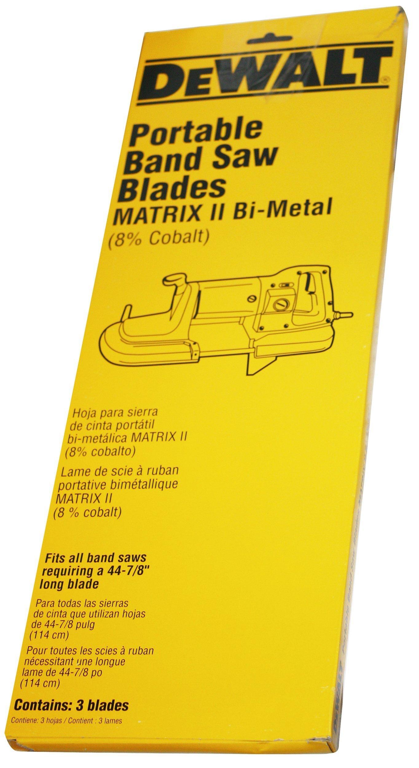DEWALT DW3989 18TPI Portable Band Saw Blade - 44-7/8-Inch.025-Inch (3-Pack)