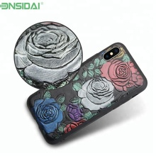 Best Seller Pu Leather Embossing Phone Case For Iphone X Anti-Shock Covers