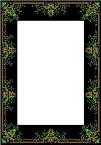 Picture Matting-Fleur-De-Lis Border-Etched Vinyl Stained Glass Film, Static Cling Photo Frame Decal