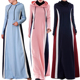 Latest Design Islamic modest sport wear Sport Abaya Gym Hoodie style Soft Knit for girls Maxi Dress for spring