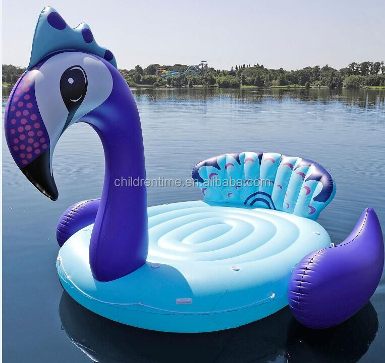 2018 hot selling giant unicorn / flamingo /peacock swimming float in <strong>water</strong> outdoor for 6 persons