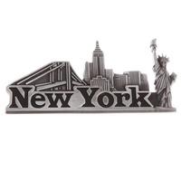New York Text Skyline & Landmarks Metal Souvenir Custom Fridge Magnet