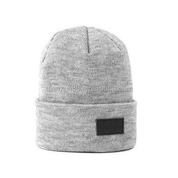 f4619e1b1b0 Custom Black Label  patch Beanie Hat  leather Beanies - Buy Leather ...