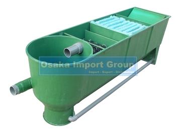 Yumota 3 chamber multi segments vortex frp koi pond for Fish pond filter material