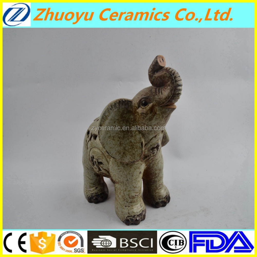 Hot selling elephant shape ceramic candle cover