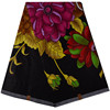 New Arrival Black Color Flower African Fabric Material Cotton Ankara Embroidery Wax Print Fabric African 870