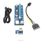 Stock 006C USB 3.0 PCI-E PCI E Express Riser Card 1x to 16x Data 6 Pin 60cm SATA Power Cable for GPU BTC Machine bitcoin mining