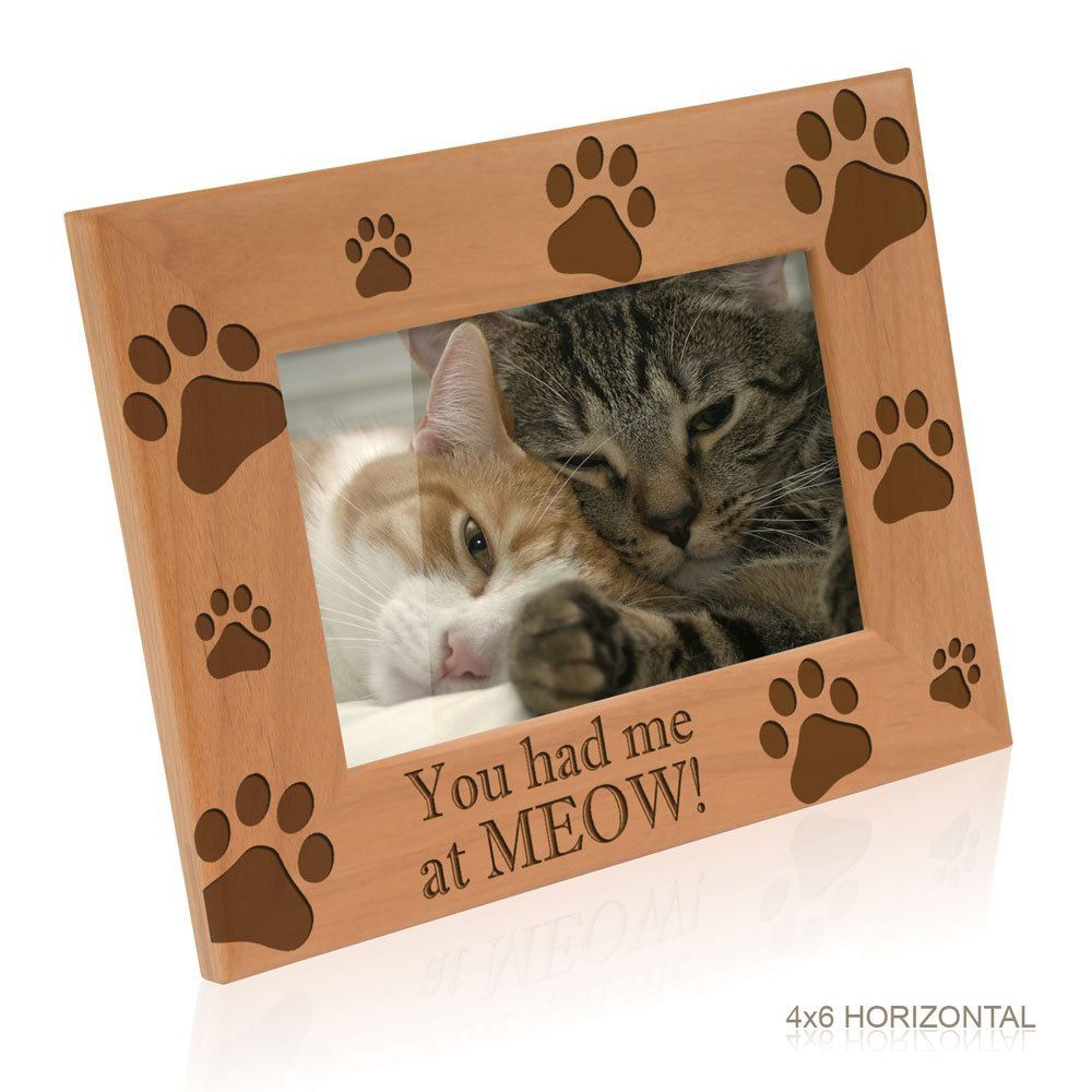 Buy Kate Posh You Had Me At Meow Cat Kitty Paws Wood Engraved