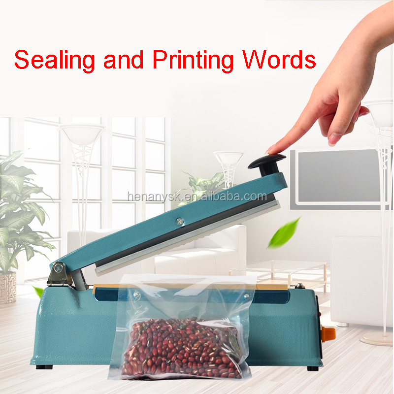 Manual Plastic Bag Sealing Sealer Former Packaging Machinery With Printing Words Function
