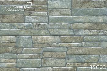 Villa Exterior Fachada Artificial Gris Piedra De Cermica Azulejo De