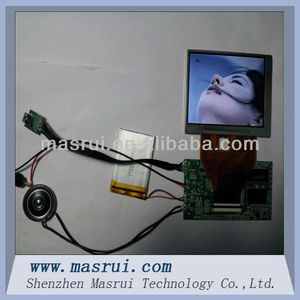 lcd display unit for greeting card