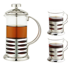 Coffee Press - For Rich, Non-Bitter Coffee - French Press Design - Easy to Use - Makes 6 Cups - Black