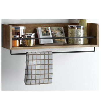 solid wood decor wall shelf for bathroom or kitchen room - buy