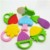 New Custom Eco Friendly Lovely Animal Food Baby Silicone Teething Toys BPA Fee Soft Teether (With Clip)