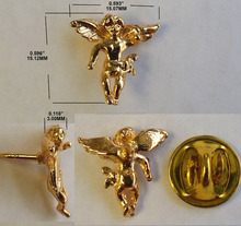 Custom metalen goud angel pin