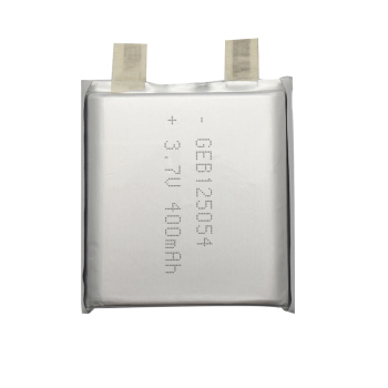 Rechargeable 125054 3.7v 700mah small watch ceramic li-polymer battery