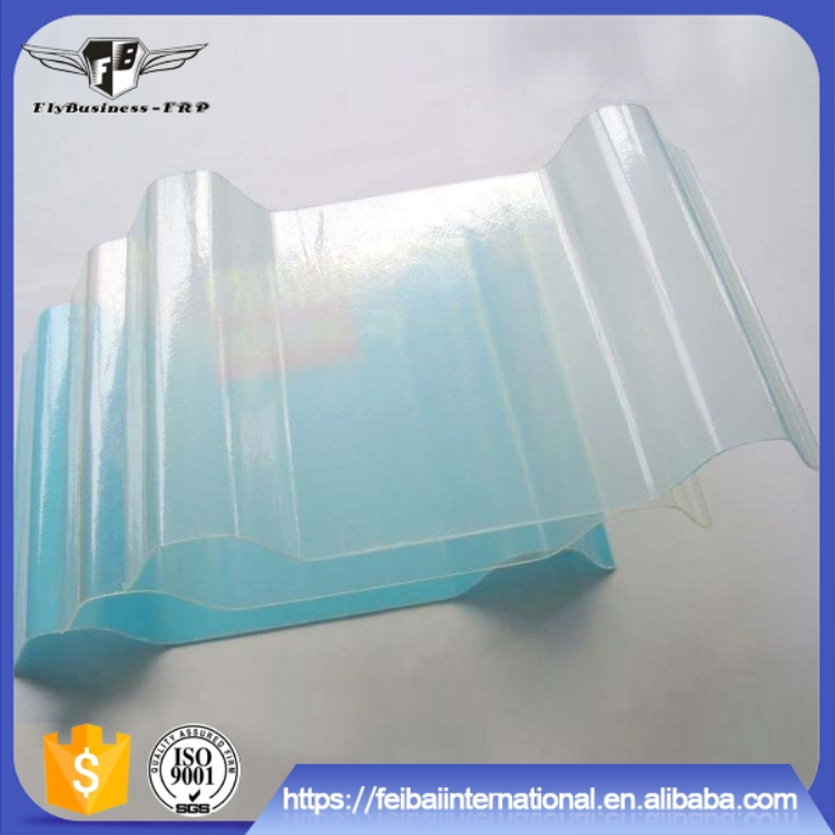 Heat resistant translucent Corrugated FRP high strength skylight panel