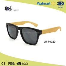 2017 Wholesale high quality plastic bamboo sunglasses with customized logo