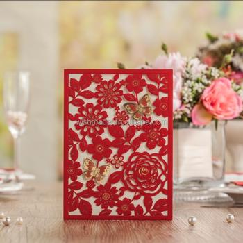 Asian Design Wedding Invitation Factory Wholesale Card Cw5270