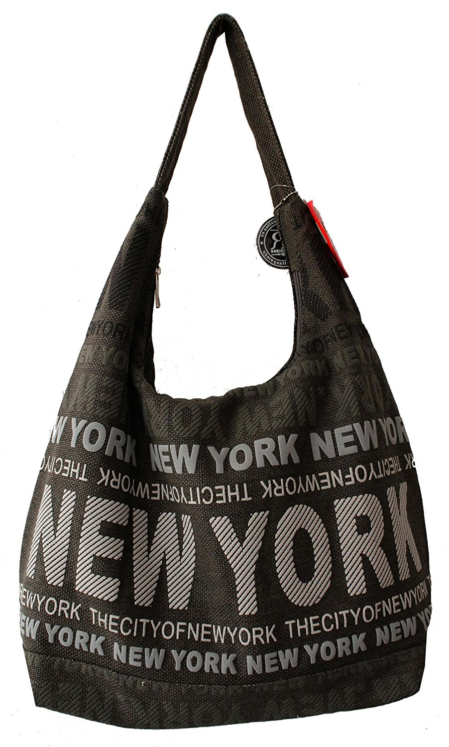 873c01807d6d6 Get Quotations · Robin Ruth New York City Cotton Fabric Shoulder Hobo Bag