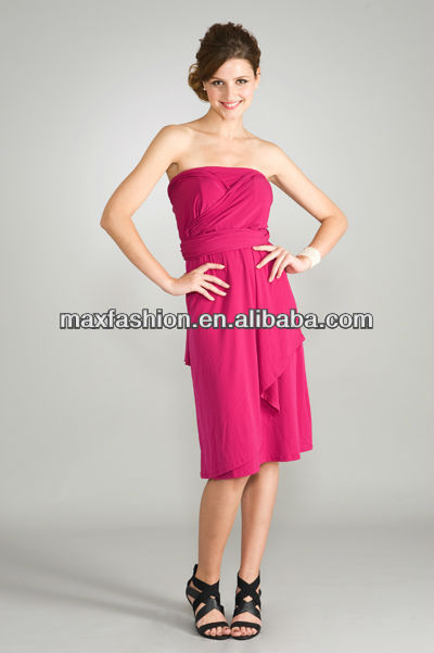 2012 Fat Women Fashionable Off Shoulder Dress