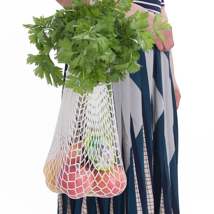 ecological cotton vegetable net shopping reusable produce mesh bag