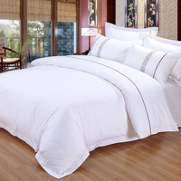 JR800 300 Thread Count Hotel 50% Cotton 50% Polyester Bed Sheet Set
