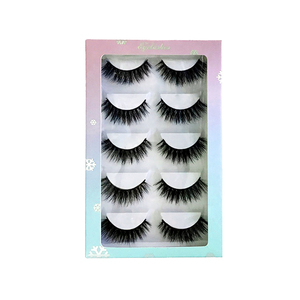 most popular style factory price nice design white colour eyelash packaging box insert mink 3d eyelashes